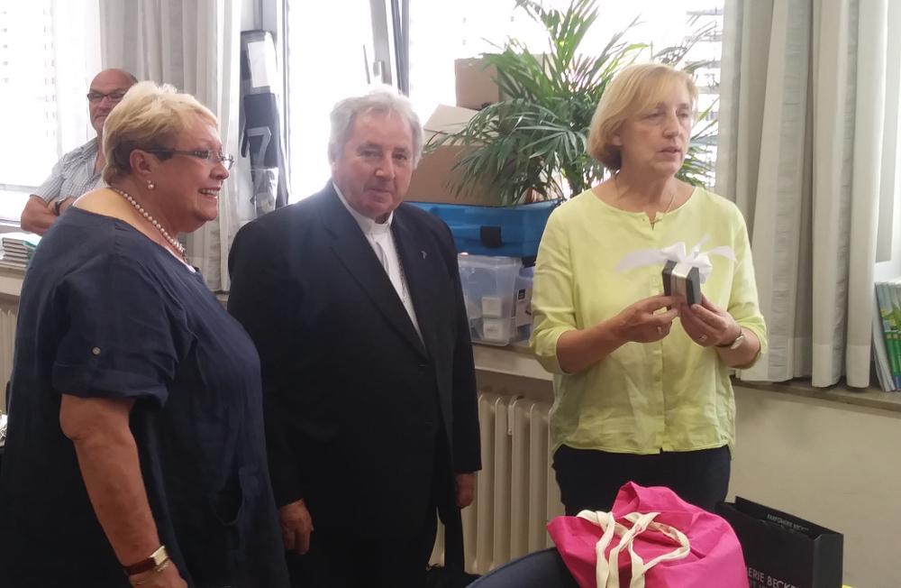 Ana Preußer, Bischof Sebastian, Schulleiterin Schulten-Willius